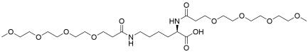 (R)-2,6-Bis-(m-PEG4)-amidohexanoic acid