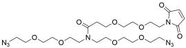N,N-Bis(PEG2-azide)-N-amido-PEG2-maleimide