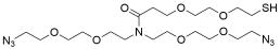 N,N-Bis(PEG2-azide)-N-amido-PEG2-thiol
