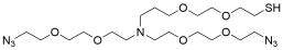 N,N-Bis(PEG2-azide)-N-PEG2-thiol