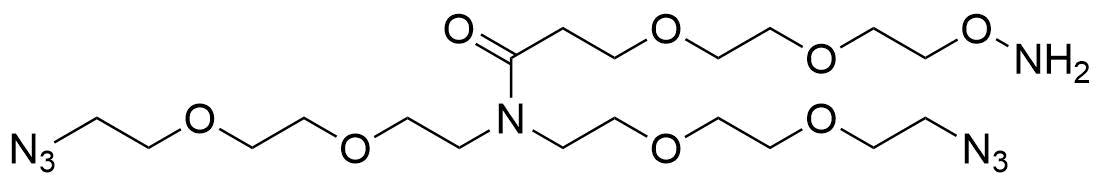 N,N-Bis(PEG2-azide)-N-amido-PEG2-oxyamine