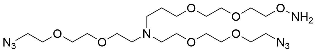 N,N-Bis(PEG2-azide)-N-PEG2-oxyamine