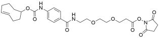 TCO-carbonylamino-benzamido-PEG2 NHS ester