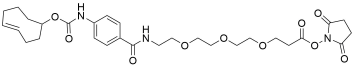 TCO-carbonylamino-benzamido-PEG3 NHS ester