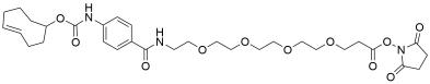 TCO-carbonylamino-benzamido-PEG4 NHS ester
