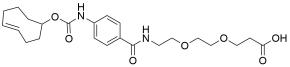 TCO-carbonylamino-benzamido-PEG2 acid