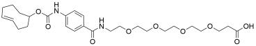 TCO-carbonylamino-benzamido-PEG4 acid