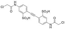 Benzenesulfonic acid, 6,6'-ethyne-1,2-diyl)bis(3-(2-chloroacetamido)