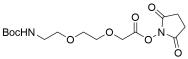 t-Boc-N-Amido-PEG2 NHS acetate
