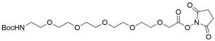 t-Boc-N-Amido-PEG5 NHS acetate