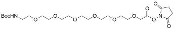t-Boc-N-Amido-PEG6 NHS acetate