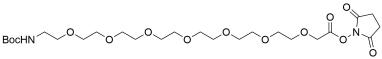 t-Boc-N-Amido-PEG7 NHS acetate