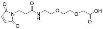 Mal-propionylamido-PEG2-acetic acid
