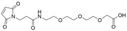 Mal-propionylamido-PEG3-acetic acid