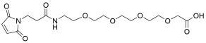 Mal-propionylamido-PEG4-acetic acid
