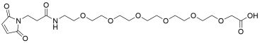Mal-propionylamido-PEG6-acetic acid