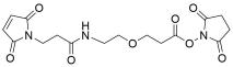 Mal-propionylamido-PEG1-NHS ester