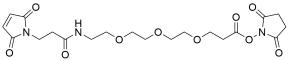 Mal-propionylamido-PEG3-NHS ester