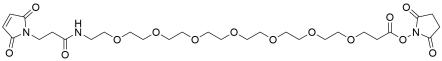 Mal-propionylamido-PEG7-NHS ester