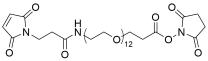 Mal-propionylamido-PEG12-NHS ester