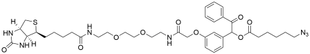 UV Cleavable Biotin-PEG2-Azide