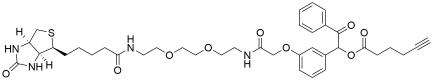 UV Cleavable Biotin-PEG2-alkyne