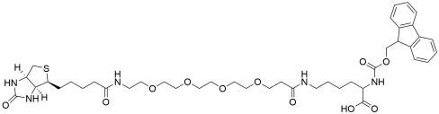 Fmoc-Lys (biotin-PEG4)-OH