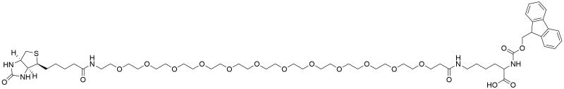 Fmoc-Lys (biotin-PEG12)-OH