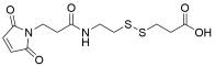 Mal-NH-ethyl-SS-propionic acid