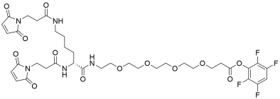 Bis-Mal-Lysine-PEG4-TFP ester