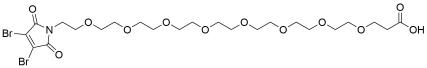 3,4-Dibromo-Mal-PEG8-acid