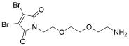 3,4-Dibromo-Mal-PEG2-Amine TFA salt