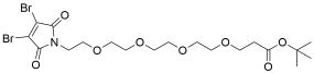 3,4-Dibromo-Mal-PEG4-t-butyl ester
