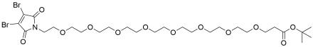3,4-Dibromo-Mal-PEG8-t-butyl ester