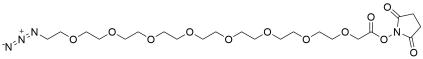 Azido-PEG8-CH2CO2-NHS