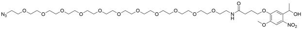 Azido-PEG11-[4-(5-(1-hydroxyethyl)-2-methoxy-4-nitrophenoxy)-butanamide]