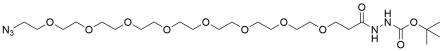 Azido-PEG8-t-Boc-hydrazide