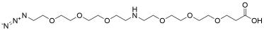 N-(Azido-PEG3)-NH-PEG3-acid HCl salt