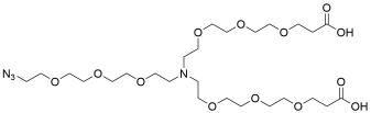 N-(Azido-PEG3)-N-bis(PEG3-acid) HCl salt
