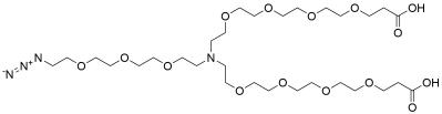 N-(Azido-PEG3)-N-bis(PEG4-acid)