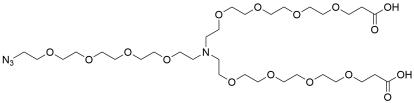 N-(Azido-PEG4)-N-bis(PEG4-acid) HCl salt