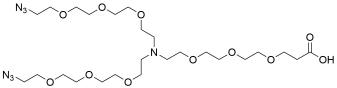 N-(acid-PEG3)-N-bis(PEG3-azide)