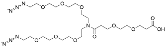 N-(Acid-PEG2)-N-bis(PEG3-azide)