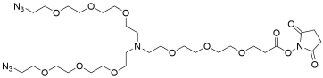 N-(NThiol-PEG3)-N-bis(PEG3-azide)
