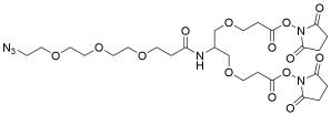 2-(Azido-PEG3-amido)-1,3-bis(NHS Ester)