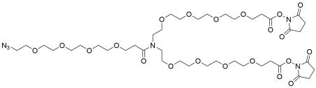 N-(Azido-PEG4)-N-bis(PEG4-NHS ester)