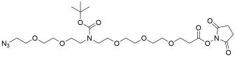 N-(Azido-PEG2)-N-Boc-PEG3-NHS ester