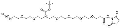 N-(Azido-PEG2)-N-Boc-PEG4-NHS ester