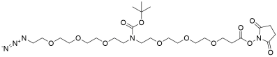 N-(Azido-PEG3)-N-Boc-PEG3-NHS ester