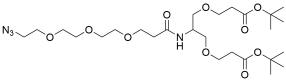 N-(Azido-PEG3)-N-bis(PEG1-t-butyl ester)
